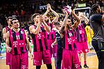 Freude bei den Baskets Bonn nach Sieg in Ludwigsburg beim Spiel in der Basketball Bundesliga, MHP Riesen Ludwigsburg - Telekom Baskets Bonn.<br /> <br /> Foto &copy; PIX-Sportfotos *** Foto ist honorarpflichtig! *** Auf Anfrage in hoeherer Qualitaet/Aufloesung. Belegexemplar erbeten. Veroeffentlichung ausschliesslich fuer journalistisch-publizistische Zwecke. For editorial use only.