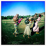 Girls carrying water in Northern Ethiopia.