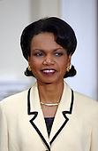 Dr. Condoleezza Rice  listens as United States President George W. Bush names her as United States Secretary of State succeeding Colin Powell in the Roosevelt Room of the White House in Washington, D.C. on November 16, 2004.<br /> Credit: Ron Sachs / Pool via CNP