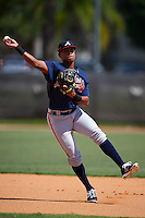Atlanta Braves Derian Cruz (50) during practice before an instructional league game against the Houston Astros on October 1, 2015 at the Osceola County Complex in Kissimmee, Florida.  (Mike Janes/Four Seam Images)
