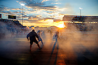 Sep 2, 2016; Clermont, IN, USA; TCrew member for NHRA pro stock driver Jason Line during qualifying for the US Nationals at Lucas Oil Raceway. Mandatory Credit: Mark J. Rebilas-USA TODAY Sports