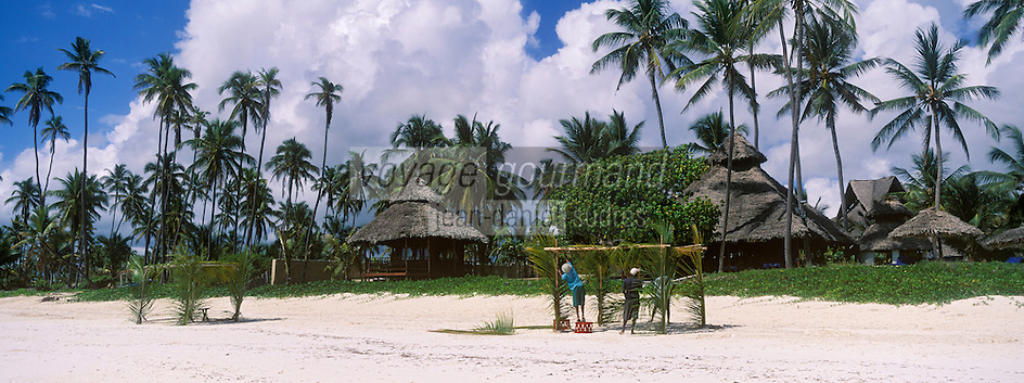 Afrique/Afrique de l'Est/Tanzanie/Zanzibar/Ile Unguja/Bwejuu: Hotel Breezes Beach Club, la plage