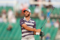Dustin Johnson (USA) tees off on the 17th hole during the third round of the 118th U.S. Open Championship at Shinnecock Hills Golf Club in Southampton, NY, USA. 16th June 2018.<br /> Picture: Golffile | Brian Spurlock<br /> <br /> <br /> All photo usage must carry mandatory copyright credit (&copy; Golffile | Brian Spurlock)