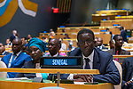 General Assembly Seventy-fourth session: Opening of the general debate<br /> PM<br /> 4th Plenary Meeting <br /> <br /> SENEGAL