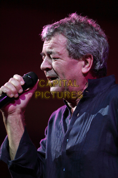 Ian Gillan, Symphonic orchestra of the Academic Chapel of St.-Petersburg, Russia..December 18th, 2009.on stage in concert live gig performance performing music headshot portrait black shirt singing side profile .CAP/PER/SB.© SB/Persona/CapitalPictures