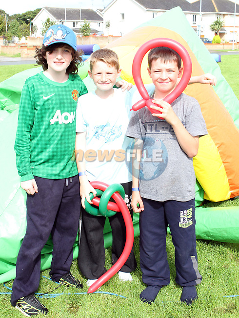 Daniel Behan, Jaime Wade and Ben Ryan at the Mornington Court Fun Day 2012...Photo NEWSFILE/Jenny Matthews.