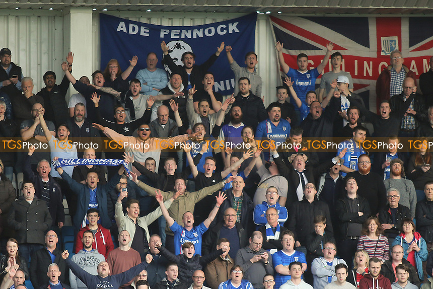 Gillingham fans celebrate their second goal during Gillingham vs Scunthorpe United, Sky Bet EFL League 1 Football at the MEMS Priestfield Stadium on 11th March 2017