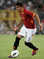 AS Roma defender Jose' Angel, of Spain, in action during an Europa League preliminary second leg football match between AS Roma and SK Slovan Bratislava, at Rome's Olympic stadium, Roma, 25 august 2011..UPDATE IMAGES PRESS/Riccardo De Luca