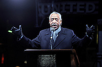www.acepixs.com<br /> January 19, 2017  New York City<br /> <br /> Al Sharpton speaks onstage during the We Stand United Rally outside Trump International Hotel &amp; Tower on January 19, 2017 in New York City.<br /> <br /> Credit: Kristin Callahan/ACE Pictures<br /> <br /> Tel: 646 769 0430<br /> Email: info@acepixs.com