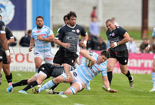 12.04.2014. Paris, France. Top 14 Rugby Union. Racing Metro versus Biarritz.  Fabrice Metz (rm)