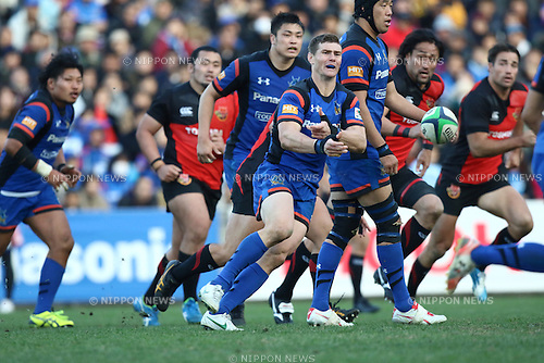 Berrick Barnes (), DECEMBER 12, 2015 - Rugby : Japan Rugby Top League 2015-2016 match between Toshiba Brave Lupus 17-17 Panasonic Wild Knights at Chichibunomiya Rugby Stadium, Tokyo, Japan. (Photo by Naoto Akasaka/AFLO)