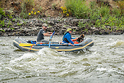 Private Rafters, Kayakers, Canoers, Paddle Boarders & Tubers crashing Cable Rapid while running the Upper Colorado River from Rancho Del Rio to State Bridge on August 25, 2014.
