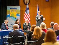 Minnesota Governor Mark Dayton launched a water quality initiative in conjunction with Land O'Lakes at at an event at that Minnesota Corporation's Arden Hills-based headquarters. Photography by Minneapolis-based corporate and event photographer Justin Cox.