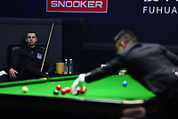 Beijing, CHINA-2nd April 2018: English snooker player Mark Selby competes with Chinese snooker player Wang Yuchen at Snooker China Open 2018 in Beijing, April 2nd, 2018. (EDITORIAL USE ONLY. CHINA OUT)