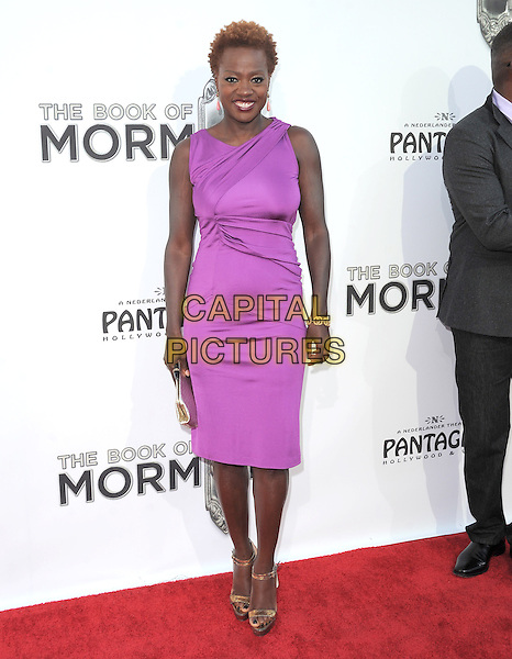 "Viola Davis  .""The Book of Mormon"" Hollywood Opening night Held At The Pantages theatre, Hollywood, California, USA..September 12th, 2012.full length pink purple dress sleeveless  .CAP/DVS.©DVS/Capital Pictures."