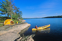 Canoeing near campsite on Sandburner Island, Sand Point Lake, Voyageurs National Park, Minnesota, AGPix_0536..