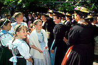 Berchtesgaden, Bavaria, Germany, May 2006. A traditional farmers wedding. The beauty of berchtesgadener Land lies in the spectacular mountain landscapes, combined with age old traditions and a welcoming culture. Photo by Frits Meyst/Adventure4ever.com