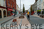 Pedestrians on the Mall, Tralee after restrictions have been eased on Monday.