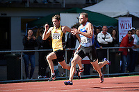 James Mortimer 168 and Alex Jordan 584 in action during the Athletics - NZ Track and Field Championships at Newtown Park, Newtown, New Zealand on Friday 6 March 2015. <br />