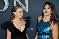 Natalie Portman &amp; Gina Rodriguez at the premiere for &quot;Annihilation&quot; at the Regency Village Theatre, Los Angeles, USA 13 Feb. 2018<br /> Picture: Paul Smith/Featureflash/SilverHub 0208 004 5359 sales@silverhubmedia.com