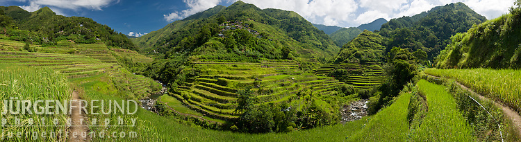 Banaue rice terraces. Stitched panoramic