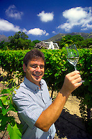 CAPE TOWN, SOUTH AFRICA, NOVEMBER 2004. Jean Naude, CEO of Winery Groot Constantia. Good soil and climate conditions are the ingredients to some of the worlds finest wines. Photo by Frits Meyst/Adventure4ever.com