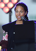 New York,NY-September 2: Alicia Keys performs On NBC's 'Today' at Rockefeller Plaza on September 2, 2016 in New York City. @John Palmer / Media Punch