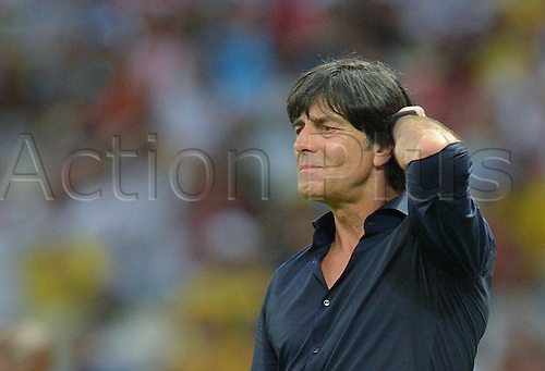 21.06.2014. Fortaleza, Brazil. Germany's head coach Joachim Loew reacts during the FIFA World Cup 2014 group G preliminary round match between Germany and Ghana at the Estadio Castelao Stadium in Fortaleza, Brazil, 21 June 2014.