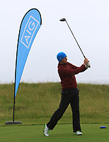 Brian Slattery (Ballybunion) on the 1st tee during the Munster Final of the AIG Junior Cup at Tralee Golf Club, Tralee, Co Kerry. 13/08/2017<br /> Picture: Golffile | Thos Caffrey<br /> <br /> <br /> All photo usage must carry mandatory copyright credit     (&copy; Golffile | Thos Caffrey)