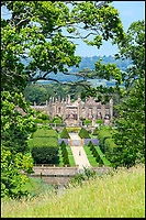 BNPS.co.uk (01202 558833)<br /> Pic: GrahamHunt/BNPS<br /> <br /> The ruins of Parnham House.<br /> <br /> An historic stately home that burned to the ground in a devastating arson attack has been put up for sale for &pound;3m - &pound;12m less than what it was worth.<br /> <br /> Grade I listed Parnham House, near Beaminster, Dorset, is now just a charred shell of the magnificent mansion it once was.<br /> <br /> It was destroyed in the huge blaze in April last year and its millionaire owner, hedge fund manager Michael Treichl, was arrested on suspicion of starting the fire.<br /> <br /> But while on police bail, Mr Treichl, 69, was found drowned in Lake Geneva, Switzerland, in an apparent suicide.<br /> <br /> Despite initial vows by the family that they would rebuild the 500-year-old home, receivers have been brought in by the mortgage lenders to sell what remains of the property.<br /> Geneva, Switzerland in an apparent suicide.