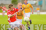 East Kerry's Padraig O'Connor and Feale Rangers Eoin Stack.