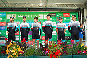 6th September 2017, Mansfield, England; OVO Energy Tour of Britain Cycling; Stage 4, Mansfield to Newark-On-Trent;  The Madison-Genesis team pose for photos after registration sign-in at Mansfield