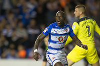 Modou Barrow of Reading celebrates scoring the winning goal during the Sky Bet Championship match between Reading and Aston Villa at the Madejski Stadium, Reading, England on 15 August 2017. Photo by Andy Rowland / PRiME Media Images.