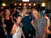 """Peter Joli Wilson and wife Jan Wainwright  Wilson. Coolangatta, Queensland/Australia (Friday, March 5, 2010) - Australia's Tracks surfing magazine held a 40 Year Birthday bash at the Sands Hotel in Coolangatta. 80's band Ganggajang played live to a packed house. Tom Carroll (AUS) and Gary 'Kong"""" Elkerton (AUS) were hounored during the night..Photo: joliphotos.com"""