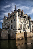 This romantic chateau spans the Cher River in the Loire Valley of France.