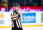 Stockholm 2014-01-18 Ishockey SHL AIK - F&auml;rjestads BK :  <br /> domare S&ouml;ren Persson <br /> (Foto: Kenta J&ouml;nsson) Nyckelord:  portr&auml;tt portrait domare referee ref