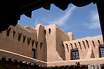 Adobe architecture, Museum of Fine Arts, Santa Fe, New Mexico