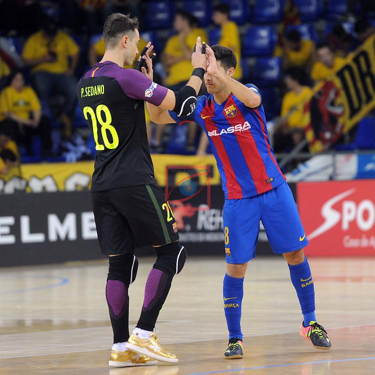 League LNFS 2016/2017 - Game 4.<br /> FC Barcelona Lassa vs Gran Canaria FS: 4-2.<br /> Paco Sedano &amp; Adolfo Fernandez.