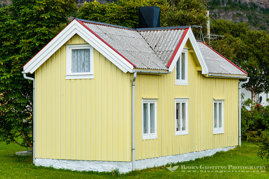 Norway, Harbak. Old buildings.
