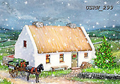 Randy, CHRISTMAS LANDSCAPES, WEIHNACHTEN WINTERLANDSCHAFTEN, NAVIDAD PAISAJES DE INVIERNO, paintings+++++CC-Irish-Christmas-Cottage_Randy-sm,USRW299,#xl#