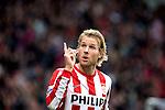 Nederland, Eindhoven, 23 september  2012.Seizoen 2012/2013.Eredivisie.PSV-Feyenoord.Ola Toivonen van PSV juicht na het scoren van de 1-0