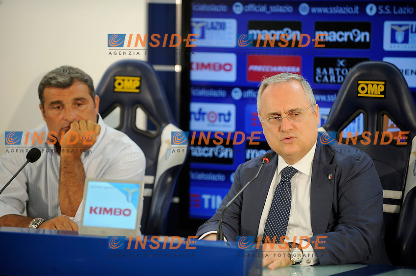 Angelo Peruzzi, Claudio Lotito<br /> 28-07-2016 Roma<br /> Conferenza stampa di presentazione di Angelo Peruzzi<br /> Press conference of the new club manager <br /> @ Marco Rosi / Fotonotizia / Insidefoto