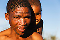 Botswana, Kalahari, bushman (san) with grandchild