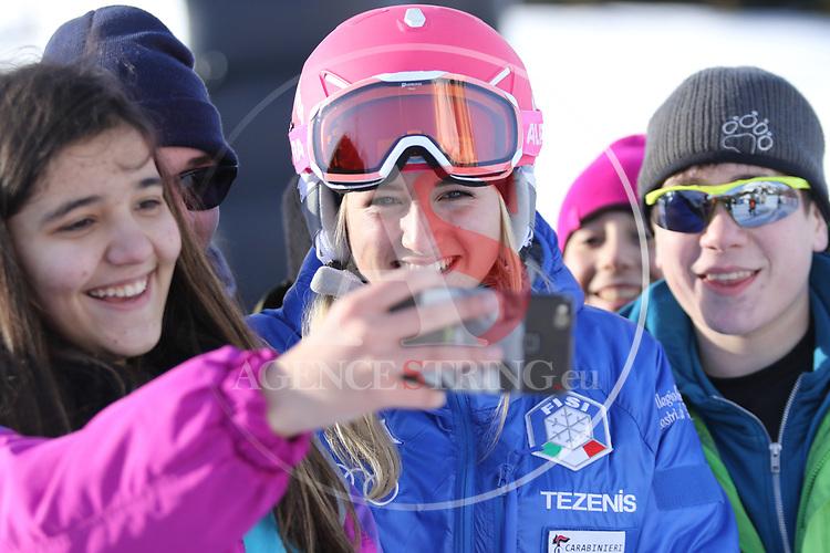 Snowboard World Cup 2018 FIS in Carezza, on December 14, 2017; Parallel Giant Slalom; Vivien Santifaller (ITA)<br /> &copy; Pierre Teyssot / Pentaphoto