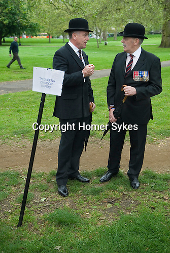 Combined Cavalry Old Comrades Association and parade Hyde Park London UK. The Queens Dragoon Guards.