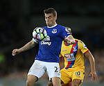 Seamus Coleman of Everton during the Premier League match at Goodison Park Stadium, Liverpool. Picture date: September 30th, 2016. Pic Simon Bellis/Sportimage