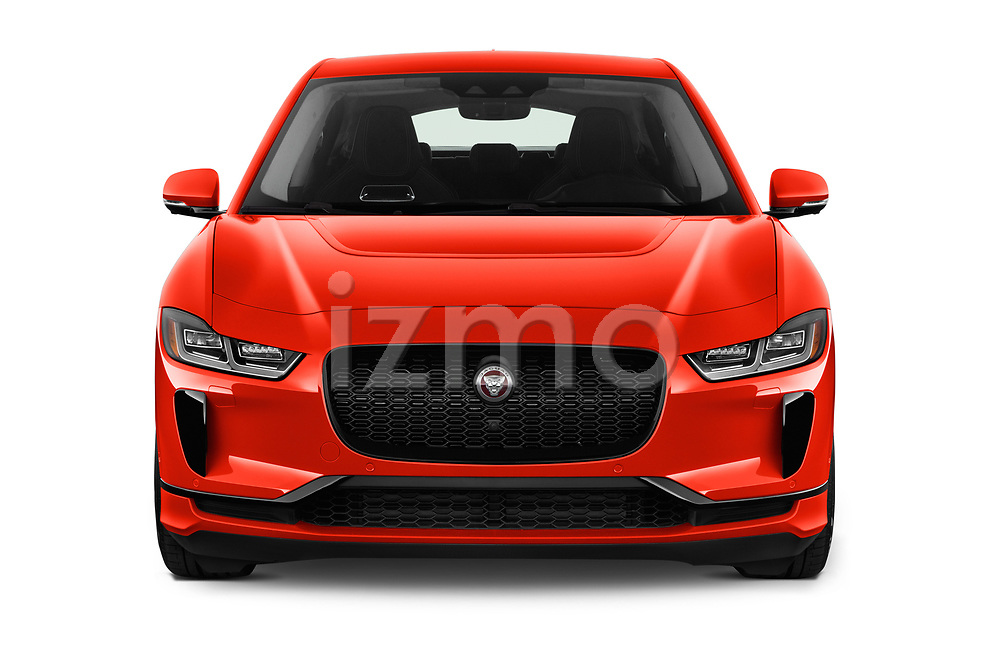 Car photography straight front view of a 2019 Jaguar I Pace S 5 Door SUV