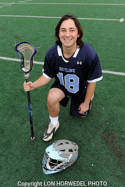Skyline High School boy's varsity lacrosse team. 3-16-15