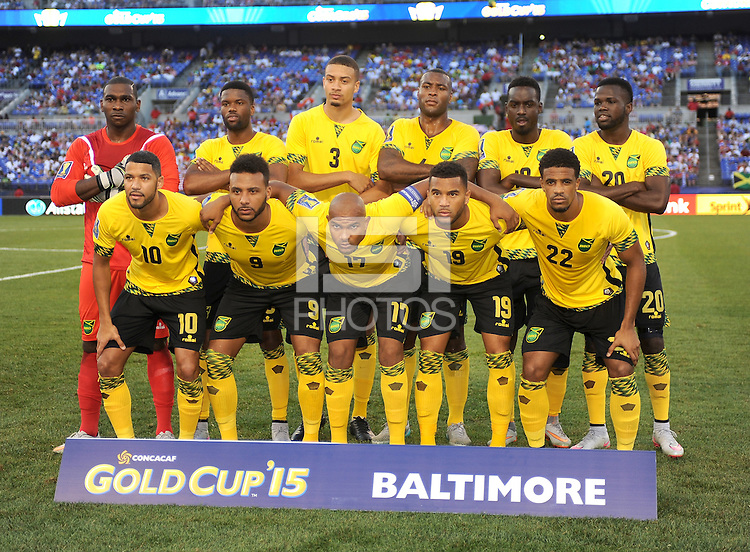 Baltimore  MD.- July 18, 2015:   Jamaica  defeated  Haiti 1-0 during the Quarterfinal match of the 2015 Gold Cup at M&T Bank Stadium.