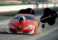 Aug. 31, 2012; Claremont, IN, USA: NHRA pro stock driver Mark Gaydosh during qualifying for the US Nationals at Lucas Oil Raceway. Mandatory Credit: Mark J. Rebilas-